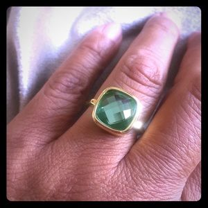 Jewelry - NEW Rounded square aqua-green  fashion ring